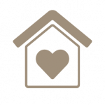 icon- house with heart in center